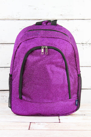Purple Glitz & Glam Large Backpack