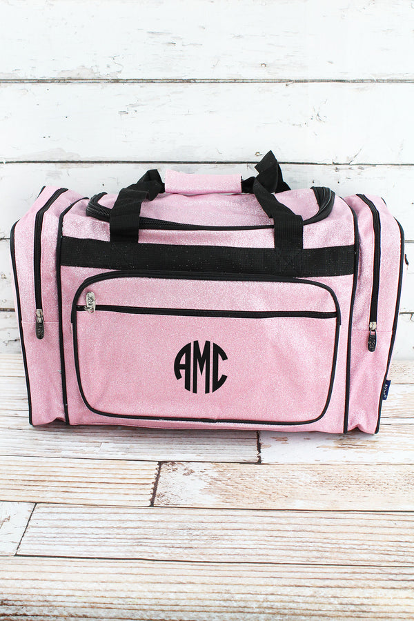Pink Glitz & Glam Duffle Bag with Navy Trim 20""