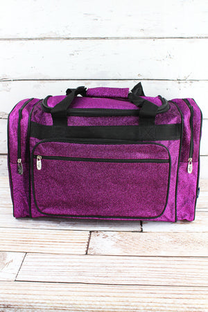 Purple Glitz & Glam Duffle Bag 20""