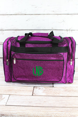 Purple Glitz & Glam Duffle Bag with Navy Trim 20""