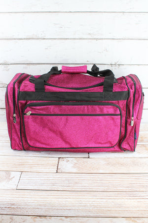 Hot Pink Glitz & Glam Duffle Bag 23""