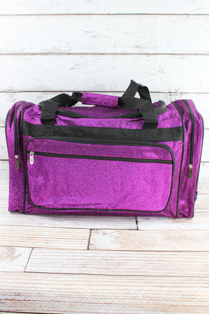 Purple Glitz & Glam Duffle Bag 23""
