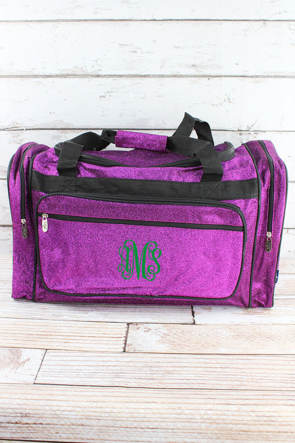 Purple Glitz & Glam Duffle Bag with Navy Trim 23""