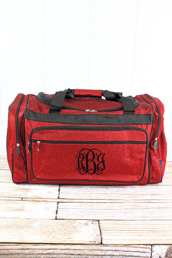 Red Glitz & Glam Duffle Bag 23""