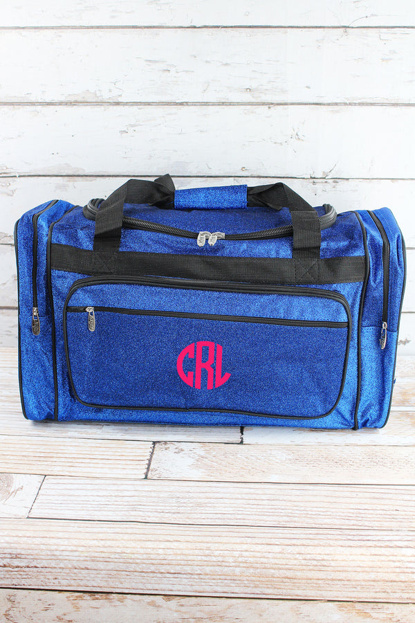 Royal Glitz & Glam Duffle Bag with Navy Trim 23""