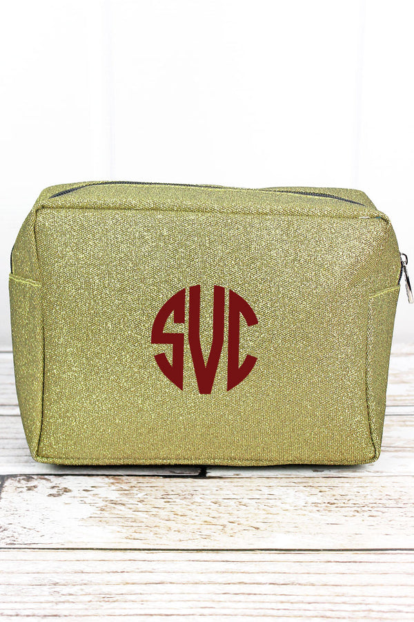 Gold Glitz & Glam Cosmetic Case