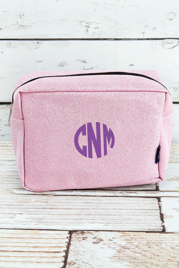 Pink Glitz & Glam Cosmetic Case