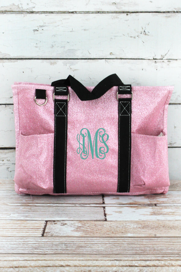 Pink Glitz & Glam Utility Tote with Black Trim