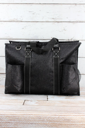 Black Glitz & Glam with Black Trim Large Organizer Tote
