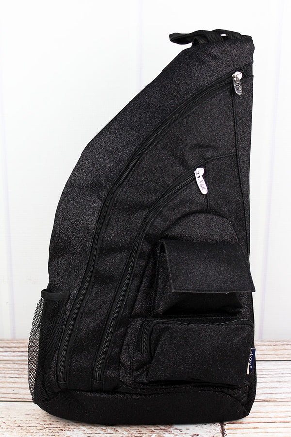 Black Glitz & Glam Sling Backpack