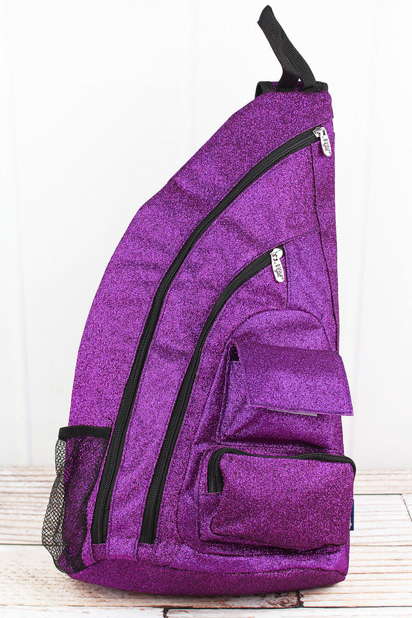 Purple Glitz & Glam Sling Backpack