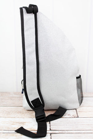 Silver Glitz & Glam Sling Backpack