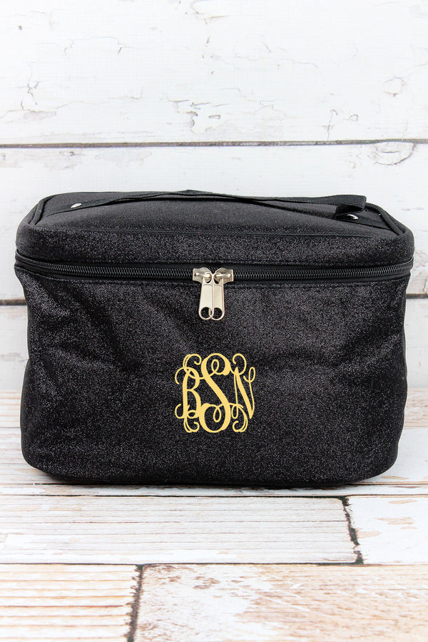 Black Glitz & Glam Train Case