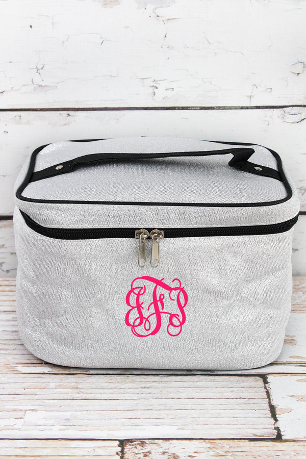 Silver Glitz & Glam Train Case