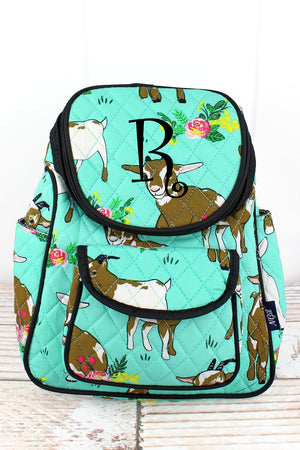 Giddy Goats Quilted Petite Backpack