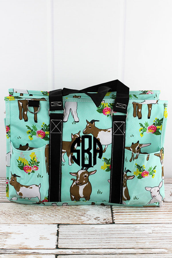 Giddy Goats Utility Tote with Black Trim