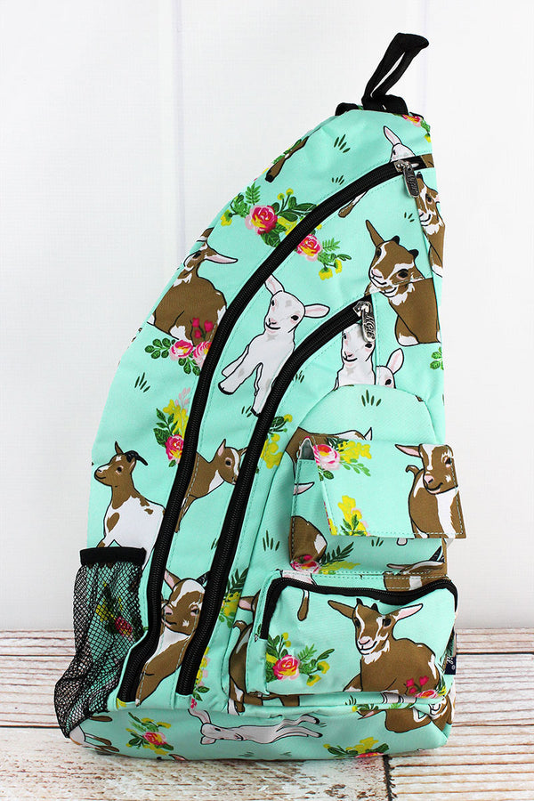Giddy Goats Sling Backpack with Black Trim