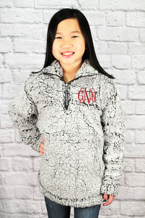 Youth Boxercraft Smoky Gray Sherpa Pullover *Personalize It