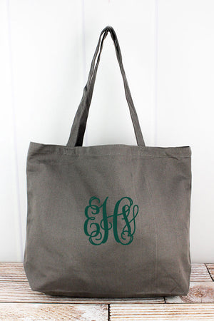 Liberty Bags Gray Large Canvas Tote