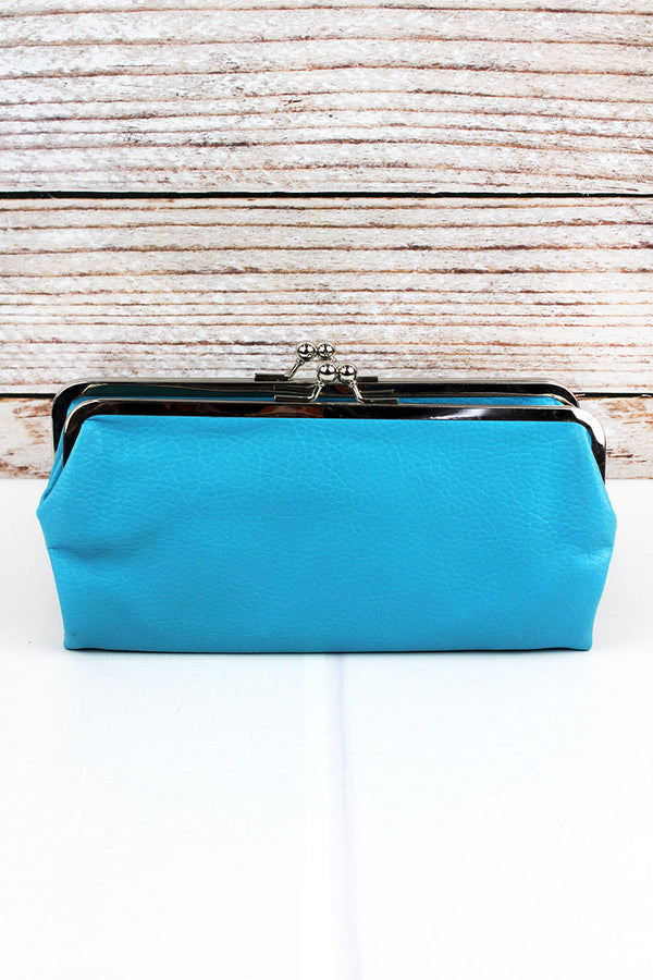 Twice as Nice Clutch Wallet in Turquoise