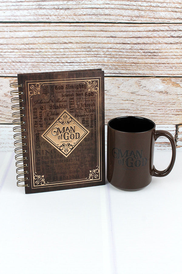 Man Of God Journal and Mug Boxed Gift Set