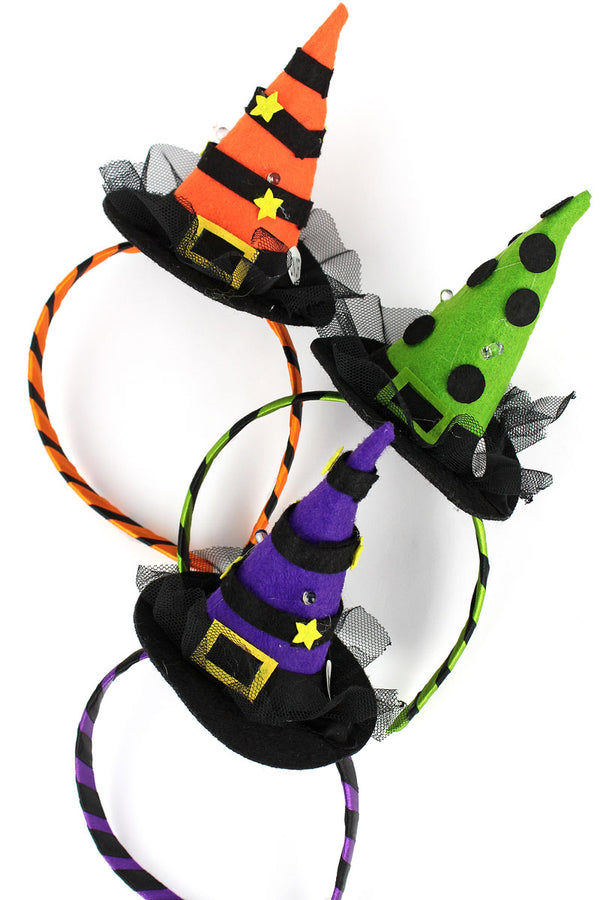 One Flashing Witch's Hat Headband - SHIPS ASSORTED