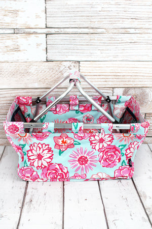 Pocket Full of Posies Collapsible Market Basket