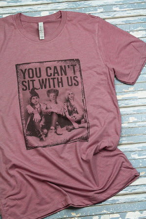 Hocus Pocus Can't Sit With Us Tri-Blend Short Sleeve Tee