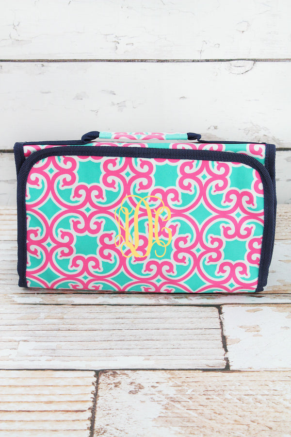 Moroccan Swirl Roll Up Cosmetic Bag