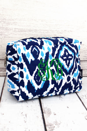 Navy Ikat Daze Cosmetic Case