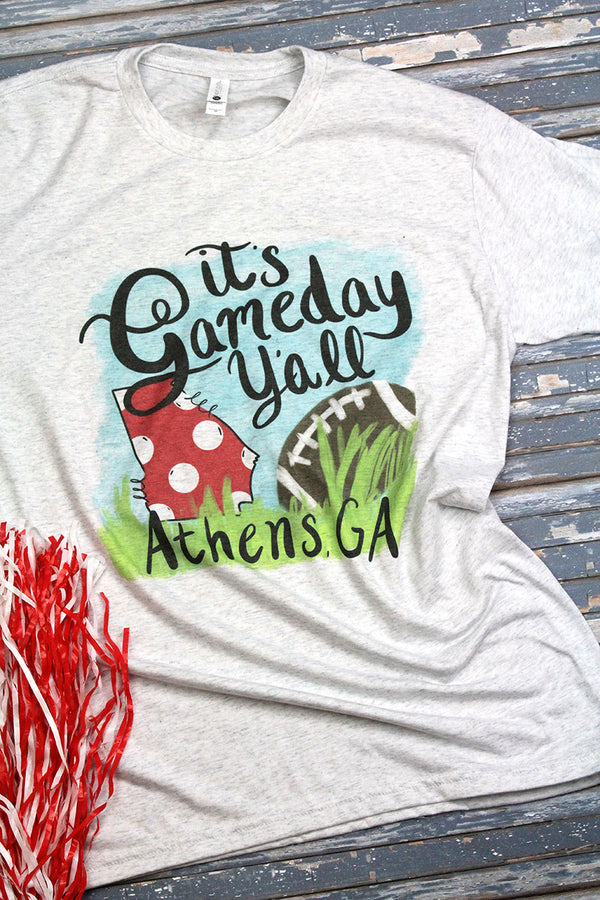 Gameday Y'all Athens Tri-Blend Crew Tee