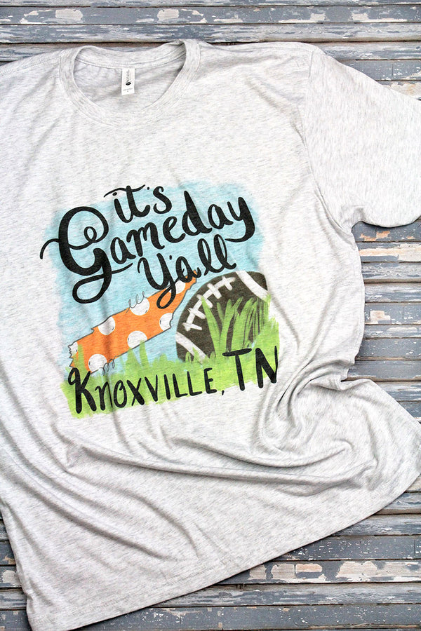 Gameday Y'all Knoxville Tri-Blend Crew Tee