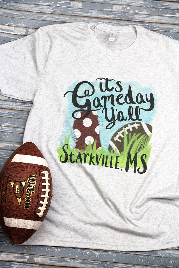 Gameday Y'all Starkville Tri-Blend Crew Tee