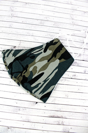 Army Camo Two-Layer Fashion Face Mask