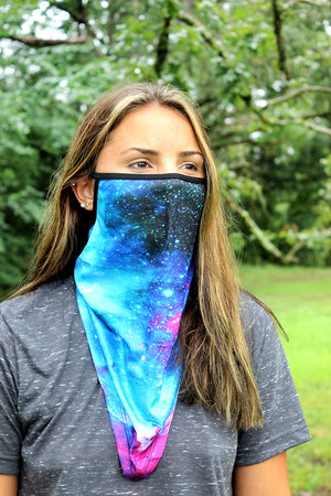Blue Galaxy Face Mask Neck Gaiter