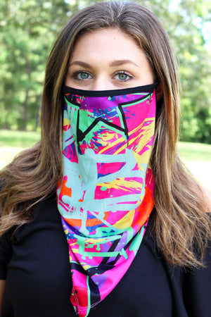 Graffiti Face Mask Neck Gaiter