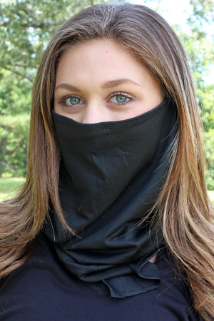 Black Face Mask Neck Gaiter