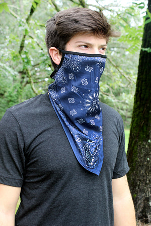 Navy Bandana Face Mask Neck Gaiter