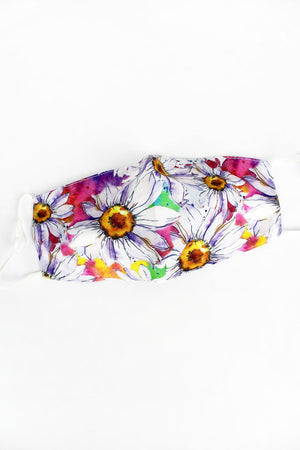Shasta Daisies Two-Layer Fashion Face Mask with Filter Pocket
