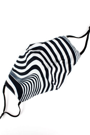Abstract Zebra Two-Layer Fashion Face Mask with Filter Pocket