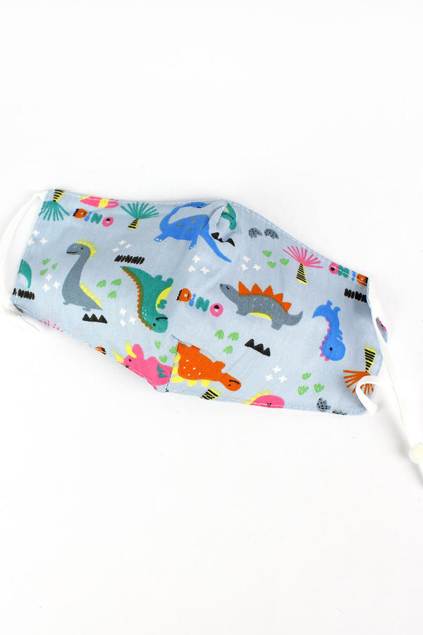 Kid's Dino Days Fashion Face Mask with Filter Pocket