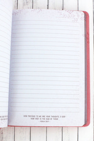 Jeremiah 29:11 'I Know The Plans' Pink LuxLeather Journal