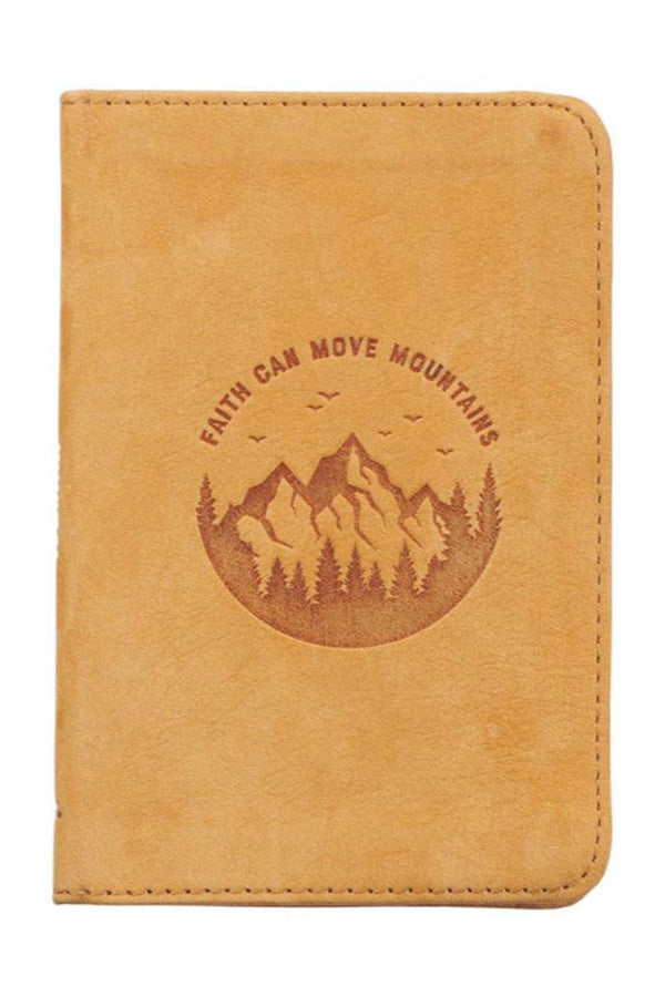 Faith Can Move Mountains Pocket-Sized Full-Grain Leather Journal