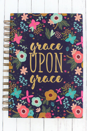 Grace Upon Grace Floral Large Wirebound Journal #JLW047