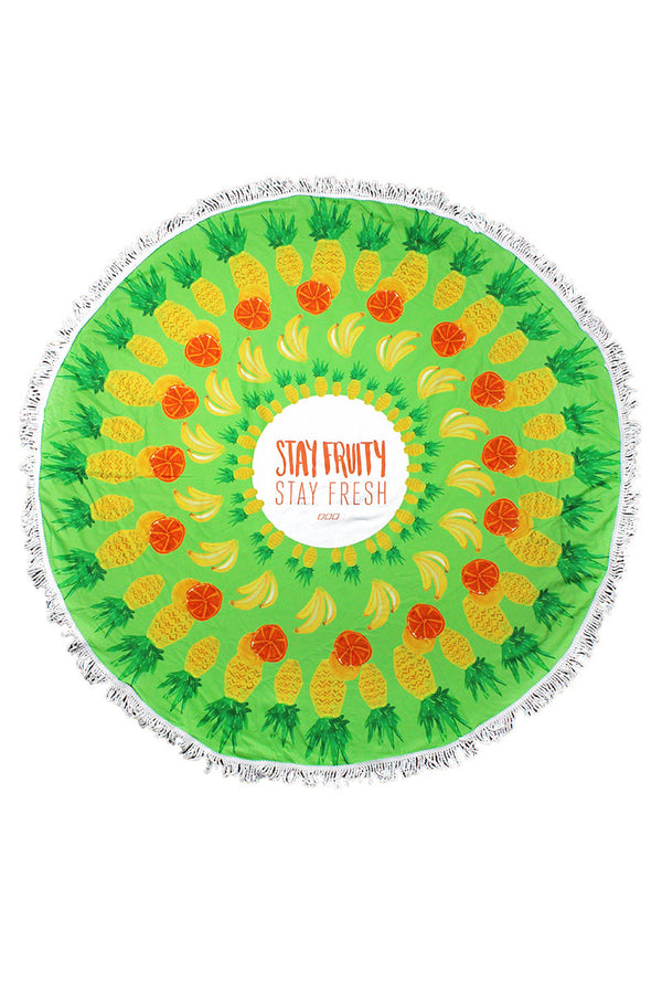 Stay Fruity Round Beach Towel