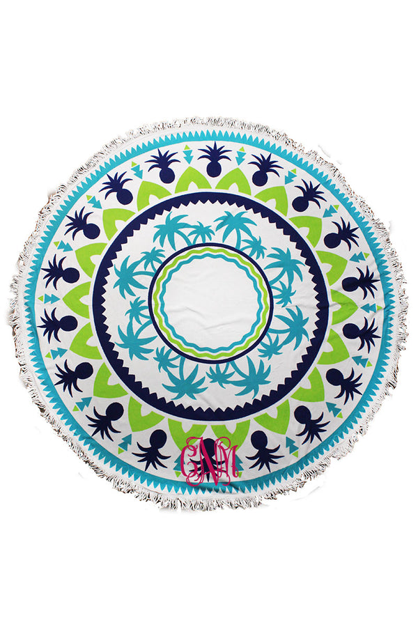 Tropical Breeze Round Beach Towel