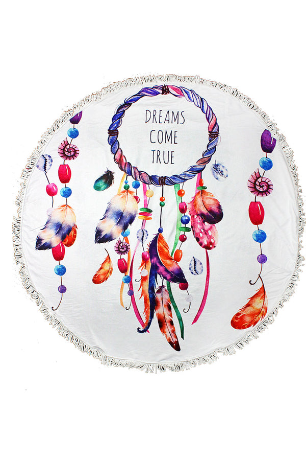 Dreams Come True Round Beach Towel
