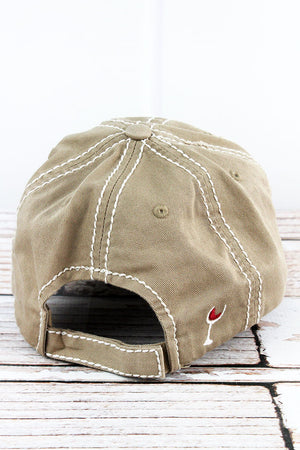 Distressed Khaki 'You Look Like I Need A Drink' Cap