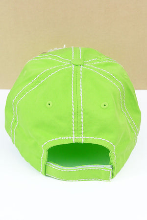 Distressed Lime 'Mamacita Needs A Margarita' Cap