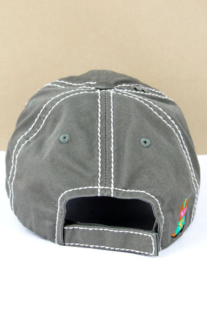Distressed Steel Gray 'Cowgirl At Heart' Cap